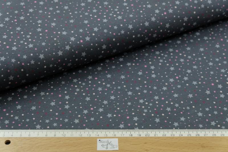 jersey sternenhimmel in rosa und grau stoffe. Black Bedroom Furniture Sets. Home Design Ideas